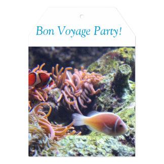 """Bon Voyage Invite 5"""" X 7"""" Invitation Card"""