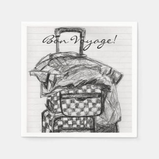 Bon Voyage Luggage Paper Napkin