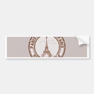 Bon Voyage Paris Travel Stamp Bumper Sticker