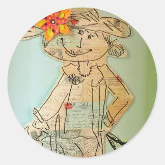 Bon Voyage! Round Sticker