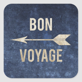 Bon Voyage Square Sticker