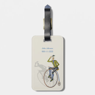 Bon Voyage Vintage bicycle Luggage Tag