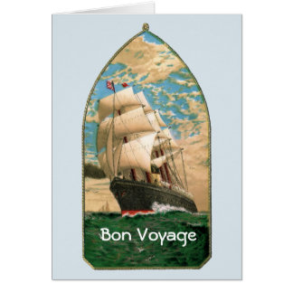 Bon Voyage with vintage ship and anchor Card