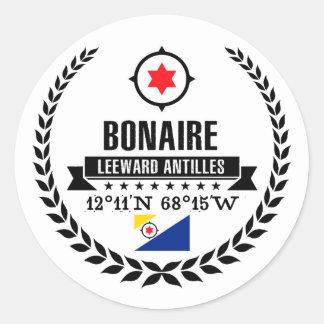 Bonaire Classic Round Sticker