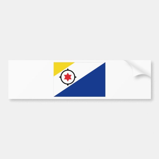 Bonaire Flag Bumper Sticker