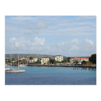 Bonaire Kralendijk Harbour Sailing Boats Postcard