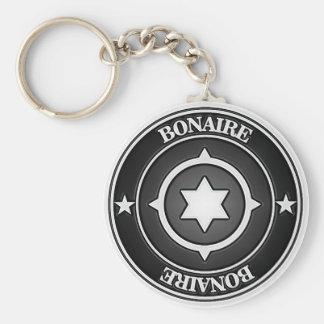 Bonaire Round Emblem Keychain