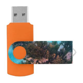 Bonairean Reef Swivel USB 2.0 Flash Drive