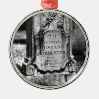Bonaventure Cemetery Savannah, GA Silver-Colored Round Ornament