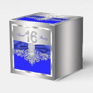 Bonbon 16 à diamant de bleu royal ballotin pour dragées