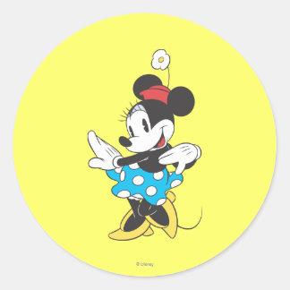 Bonbon classique à Minnie | Sticker Rond