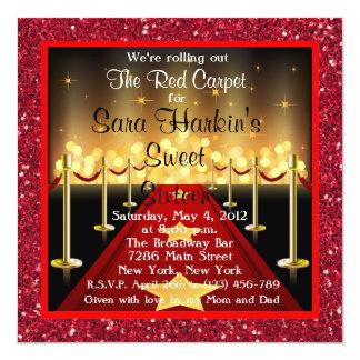 Bonbon de Hollywood de tapis rouge invitation de Carton D'invitation 13,33 Cm