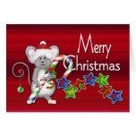 Bonbon de Joyeux Noël ! - Souris/sucre de canne Cartes De Vœux