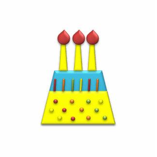 BonBon Party Rainbow Birthday Cake Yellow Standing Photo Sculpture