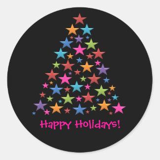 BonBon Rainbow Christmas Tree Colorful Stickers