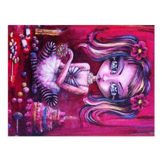 Bonbons à amour d'oeil carte postale