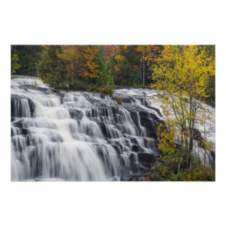 Bond Falls In Autumn Near Paulding, Michigan Poster