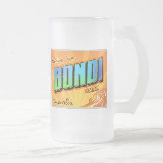 BONDI 16 OZ FROSTED GLASS BEER MUG