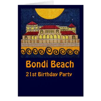Bondi Beach, 21st Birthday Party card
