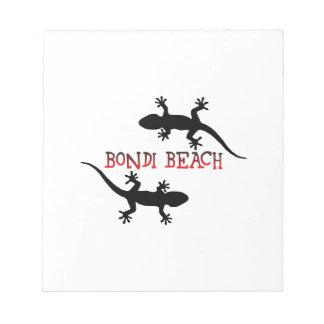 Bondi Beach Australia Notepad