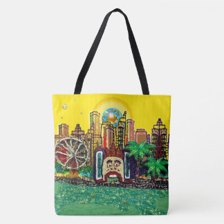 Bondi Beach Luna Park by Sequin Dreams Studio Tote Bag