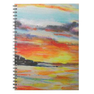 Bondi Beach Sunset Spiral Notebook