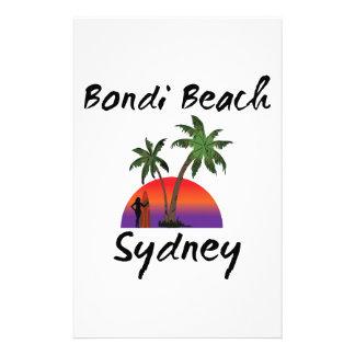 bondi beach sydney stationery design