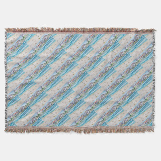 Bondi Blues Throw Blanket