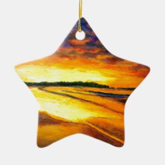 Bondi on Dusk Ceramic Ornament