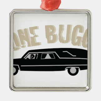 Bone Buggy Silver-Colored Square Ornament
