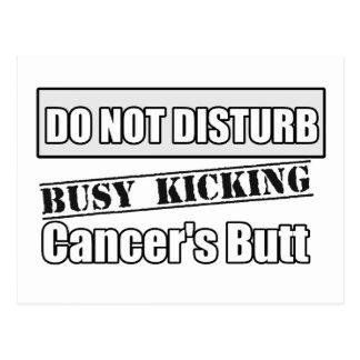 Bone Cancer Do Not Disturb Kicking Butt Postcard
