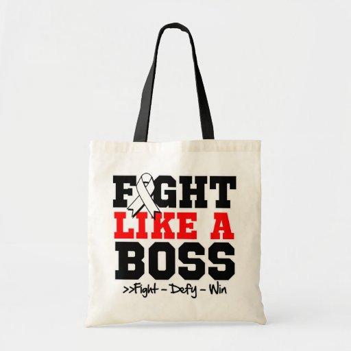 Bone Cancer Fight Like a Boss Tote Bag