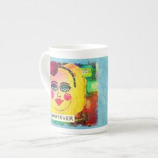 BONE CHINA 15 OZ MUG-WHATEVER TEA CUP