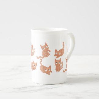 Bone china cat mug