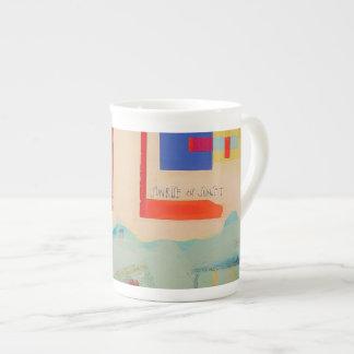 "Bone China Designer Tea Cup ""Sunrise Till Sunset"""
