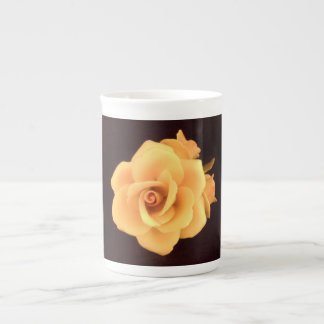 Bone China Fine Porcelain Mug Capodimonte Rose.