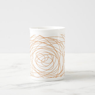 Bone China Mug - Orange Scribble