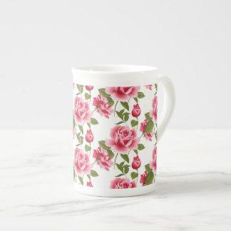 Bone China Mug-Pink Roses Tea Cup