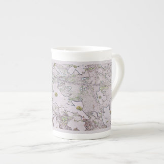 Bone China White Dogwood Blossoms Mug