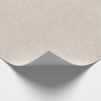 Bone Colored Burlap Texture Wrapping Paper