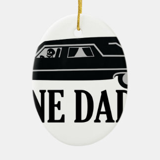Bone Daddy Ceramic Oval Ornament