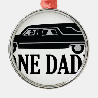 Bone Daddy Silver-Colored Round Ornament
