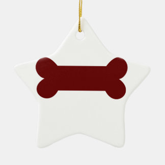 bone for dog ceramic star ornament