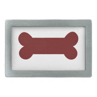 bone for dog rectangular belt buckles