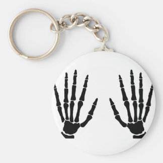 Bone Hands Isolated Basic Round Button Keychain