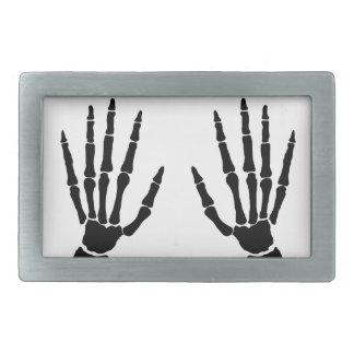 Bone Hands Isolated Belt Buckles