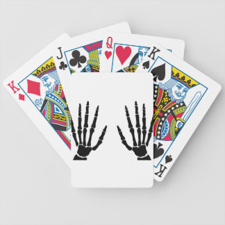 Bone Hands Isolated Bicycle Playing Cards