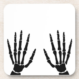 Bone Hands Isolated Drink Coaster