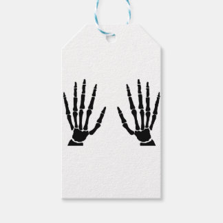 Bone Hands Isolated Gift Tags