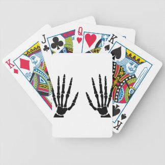 Bone Hands Isolated Poker Deck